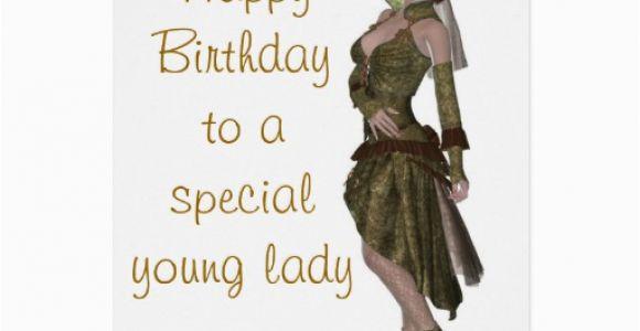 Birthday Card for Young Lady Steampunk Fashion Birthday Card for Young Lady Zazzle