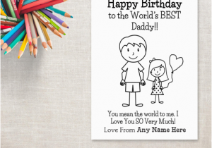 Birthday Card From Daughter To Father Happy Cards For Dad With Name