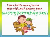 Birthday Card From Mother to son Birthday Greetings for son Quotes Quotesgram