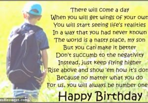 Birthday Card From Mother To Son Quotes For Mom Quotesgram