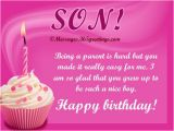 Birthday Card From Mother to son Birthday Wishes for son 365greetings Com