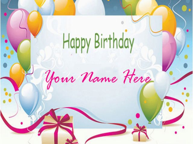 Birthday Card Images with Name Editor Happy Birthday Cards