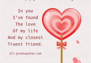 Birthday Card Love Sayings I Found The Of My Life Quotes Quotesgram