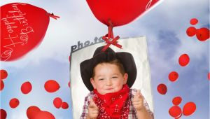 Birthday Card Maker with Picture Birthday Card with Flying Balloons Printable Photo Template