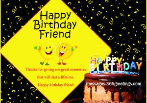 Birthday Card Messages For A Friend Happy Wishes Friends 365greetings Com