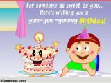 Birthday Card Messages for Kids Yum Yummy Birthday Free for Kids Ecards Greeting Cards