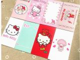 Birthday Card Packs Cheap 40 Pcs Pack Cartoon Hello Kitty Christmas Holdiy Letter