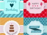 Birthday Card Packs Cheap Pack Of Birthday Cards with Vintage Badge Vector Free