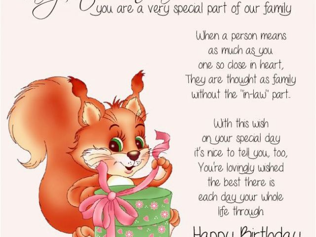 Birthday Card Poems For Daughter In Law Free Cards