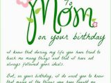 Birthday Card Poems Mom Happy Birthday Mom Birthday Wishes for Mom Funny Cards