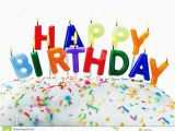 Birthday Card Salutations Birthday Greetings From Burning Candles Stock Image