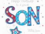 Birthday Card Service Uk Great son Happy Birthday Greeting Card Cards Love Kates