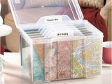 Birthday Card Storage Box Greeting Card organizer with Dividers Storage Box Recipe