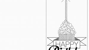 Birthday Card Template Black and White 6 Best Images Of Printable Folding Birthday Cards