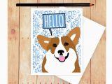 Birthday Card with Dogs Corgi Card Dog Birthday Card Cute Dog Card Corgi Art Corgi