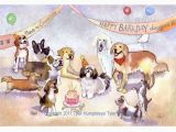 Birthday Card with Dogs Funny Dog Greeting Card Birthday Card Dog Birthday Card Dog