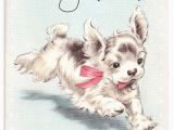 Birthday Card with Dogs Vintage Dog Collectibles I Antique Online