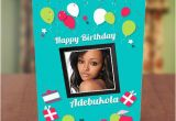 Birthday Card with Photo Upload Free Photo Upload Red White Balloons Birthday Card