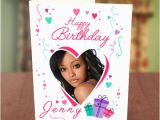 Birthday Card with Photo Upload Love Shape Gift Boxes Birthday Card Greetings World