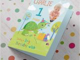 Birthday Card with Photo Upload Photo Upload Any Age Birthday Card Turtle Kite Card