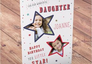 Birthday Card with Photo Upload Photo Upload Birthday Card Daughter Little Star From 99p