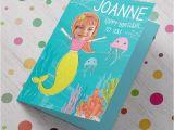 Birthday Card with Photo Upload Photo Upload Birthday Card Mermaid From 99p