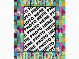 Birthday Card with Picture Insert Birthday Card Insert Photo Colour Floral Zazzle