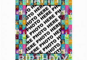Birthday Card With Picture Insert Photo Colour Floral Zazzle