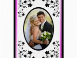 Birthday Card with Picture Insert Pink and Black Thank You Card with Photo Insert Zazzle
