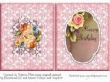 Birthday Card with Picture Insert Rose Happy Birthday A5 Insert Cup719257 1416 Craftsuprint