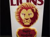 Birthday Cards Brisbane Roffeycreations Brisbane Lions Cards