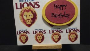 Birthday Cards Brisbane Roffeycreations Brisbane Lions Cards