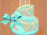 Birthday Cards Cakes Images Vintage Birthday Cake Background Art Vector Free Vector In