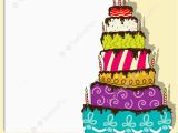 Birthday Cards Cakes Pictures Birthday Cake Card Illustration