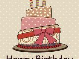 Birthday Cards Cakes Pictures Vintage Happy Birthday Cake Card by Kaisorn Graphicriver