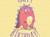 Birthday Cards Cartoon Character Happy Birthday Card Template for Children with Funny