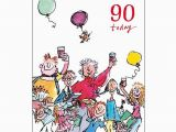 Birthday Cards Delivered Same Day 90th Unisex Birthday Card Quentin Blake Same Day