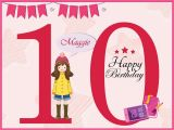 Birthday Cards for 10 Years Old Girl Age 10 Year Old Girl Birthday Banner Teen Design Poster Wall