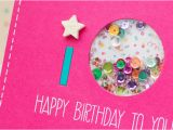 Birthday Cards for 10 Years Old Girl Catered Crop Happy Birthday Shaker Card Mayholic In Crafts