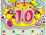 Birthday Cards for 10 Years Old Girl Happy 10th Birthday Images Lovely Happy 10th Birthday