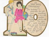 Birthday Cards for 10 Years Old Girl Vintage Antique Used 10th Birthday Greeting Card for 10