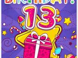Birthday Cards for 13 Year Old Boy Happy 13th Birthday Wishes for 13 Year Old Boy or Girl