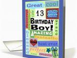 Birthday Cards for 13 Year Old Boy Happy Birthday for 13 Year Old Boy Good Word Subway Art