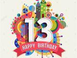 Birthday Cards for 13 Year Old Boy Happy Birthday Thirteen 13 Year Fun Celebration Greeting