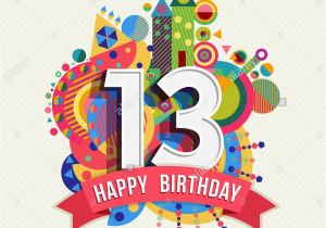 Birthday Cards For 13 Year Old Boy Happy Thirteen Fun Celebration Greeting
