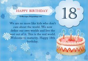 Birthday Cards For 18 Year Olds 18th Wishes Messages And Greetings