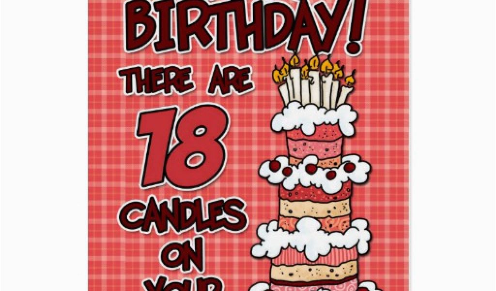 Birthday Cards For 18 Year Olds Happy Birthday 18 Years Old Greeting