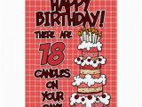 Birthday Cards for 18 Year Olds Happy Birthday 18 Years Old Greeting Card Zazzle