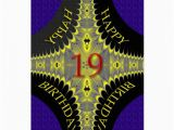 Birthday Cards for 19 Year Olds Abstract Birthday Card for A 19 Year Old Zazzle