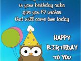 Birthday Cards for 19 Year Olds Happy 19th Birthday Wishes Occasions Messages